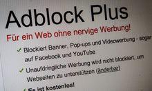 Werbeblocker Werbefilter Programm um Werbung auf einer Internet Webseite zu entfernen Adblock