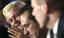 Archivbild: er niederländische Rechtspopulist Geert Wilders, FPÖ-Chef Heinz-Christian Strache und FPÖ-Generalsekretär Harald Vilimsky im März 2015 in Wien.