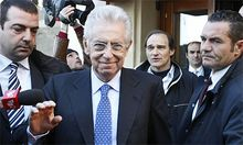 Monti Italien kann Krise