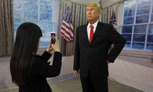 Auch als Wachsfigur in China zieht Trump das Interesse der Öffentlichkeit auf sich.