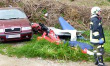 Abgestürztes Kleinflugzeug