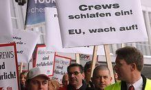 Proteste gegen Neuregelung der Flugdienstzeiten