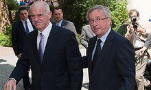 Regierungschef Papandreou trifft EU-Gruppenchef Juncker