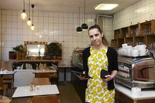 """Nina Strasser ist Wirtin im """"Landkind"""" am Schwendermarkt"""