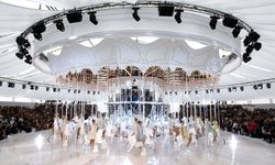 Models present creations by German designer Karl Lagerfeld as part of his Haute-Couture Fall/Winter 2010-2011 fashion show for French fashion house Chanel in Paris