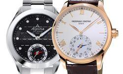 Frédérique Constant und Schwestermarke Alpina werden heuer noch zehn weitere Horological Smartwatches präsentieren. Dies sind die ersten Beiden. Erhältlich ab Juni 2015. Die Einstiegspreise beginnen unter 1000 Euro. / Bild: (c) Beigestellt