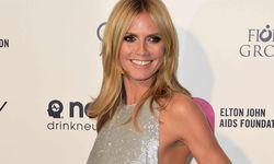 Heidi Klum arrives at the 2015 Elton John AIDS Foundation Oscar Party in West Hollywood