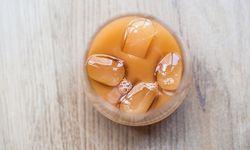 Erfrischend. Einmal samt Eiswürfeln im Glas, ist Kombucha gar nicht so seltsam. / Bild: (c) Christine Pichler