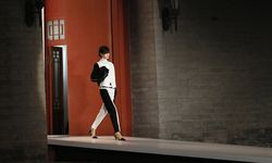 A model presents creation by Proenza Schouler at ´Americans In China´ fashion show in Beijing /