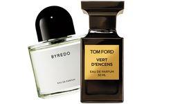 """Evergreen. """"Vert d'encens"""" aus der Private Collection von Tom Ford (50 ml um 199 €) und """"Unnamed Perfume"""" von Byredo (100 ml um 165 €, exklusiv bei Le Parfum am Petersplatz). / Bild: (c) Beigestellt"""