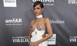 Singer Rihanna poses at amfAR´s Fifth Annual Inspiration Gala in Los Angeles