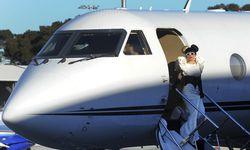 U.S. singer Lady Gaga steps off her private jet at Sydney Airport