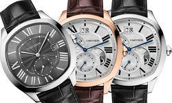 """Cartiers neues tickendes Œuvre nennt sich """"Drive de Cartier"""". Die sportlich-eleganten Zeitmesser sind nicht zu groß, nicht zu klein und angenehm flach geraten. Die Uhrwerke stammen allesamt von Cartier, und die Preise sind moderat. Verkaufsstart wird im Mai sein.  / Bild: (c) Beigestellt"""