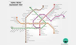 Vienna Metro Restaurant Map / Bild: foodtable.at