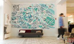 Überblick. Die Atzgerei visualisierte ihre Wien-Sicht für das Magdas Hotel. / Bild: (c) Tobias Held / Atzgerei