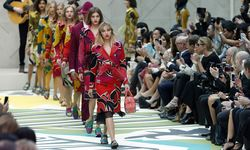 Models present creations from the Burberry Prorsum Spring/Summer 2015 collection during London Fashion Week