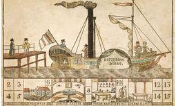 Eine spielerische Reise mit dem Dampfschiff nach Dordrech. / Bild: (c) Collection Ville de Rambouillet, The Trustees oft he British Museum / Brandstaetter Verlag