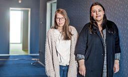 Improvisationstalente. Die Architektinnen Johanna Aufner und Andrea Zuniga Espinoza.  / Bild: (c) Christine Pichler