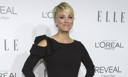 Actress Cuoco poses at the 21st annual ELLE Women in Hollywood Awards in Los Angeles