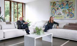 Familienbande. Carlo Molteni ist CEO der traditionsreichen Möbelmarke, Giulia Molteni seine Tochter. / Bild: (c) Beigestellt
