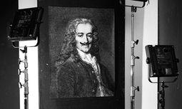 Moustache. Philosophie mit Humor – Monsieur Voltaire (mit Bart). / Bild: (c) beigestellt
