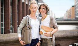 Hamburg. Annika Busse und Andrea Noelle gründeten das Label Beliya.  / Bild: (c) Beigestellt