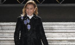 Italian designer Miuccia Prada appears at the end of her Fall/Winter 2012-2013 women´s ready-to-wear fashion show for fashion house Miu Miu in Paris / Bild: (c) Reuters (� Gonzalo Fuentes / Reuters)