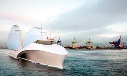 """Windkraft. """"Cargo-Sail""""-Schiffe könnten in Zukunft die Frachten über die Weltmeere karren. / Bild: (c) Beigestellt"""