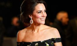 Britain´s Catherine the Duchess of Cambridge arrives for the British Academy of Film and Television Awards (BAFTA) at the Royal Albert Hall in London / Bild: (c) REUTERS (TOBY MELVILLE)