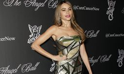 Sofia Vergara arrives on the red carpet at Gabrielle s Angel Foundation hosts Angel Ball 2014 at Cip