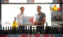 Wein demokratisieren. Philipp Geymüller und Bernhard Moss schufen die Abothek. / Bild: (c) Die Presse (Clemens Fabry)