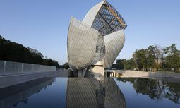 A general view shows the Fondation Louis Vuitton designed by architect Frank Gehry in the Bois de Boulogne