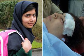 Malala Yousufzai smiles as she attends Edgbaston High School for girls in Edgbaston