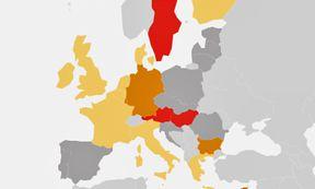 Karte: Asylwerber in der EU / Bild: (c) Presse Digital