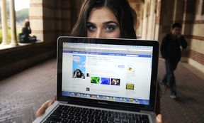 Alyssa Ravasio displays her page on the social networking site Facebook, while attending school in Los Angeles