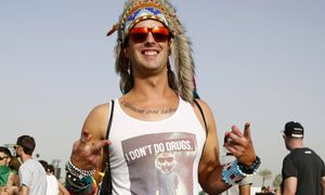 Concertgoer Nick Severns poses at the Coachella Valley Music and Arts Festival in Indio / Bild: (c) REUTERS (MARIO ANZUONI)