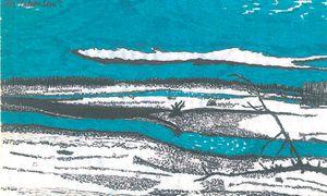 Und das soll der Yukon sein? Zeichnung: Peter Handke. / Bild: (c) Insel Verlag