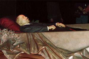 LENIN´S BODY LIES IN THE MAUSOLEUM FILE PHOTO.