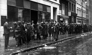 Arbeitslose in den USA 1930 / Bild: (c) imago/Leemage