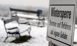 Schnee in Tulln (Niederösterreich) / Bild: APA/HERBERT PFARRHOFER