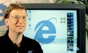 MICROSOFT CEO GATES PROMOTES INTERNET EXPLORER / Bild: (c) � Reuters Photographer / Reuter
