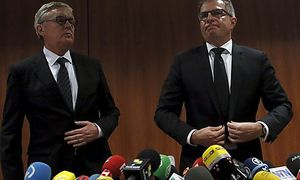 Lufthansa-CEO Carsten Spohr und Germanwings-Chef Thomas Winkelmann / Bild: (c) REUTERS (ALBERT GEA)