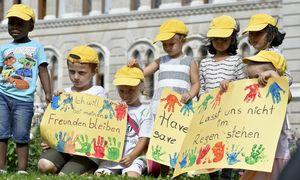 """Hoffnung für die """"Alt Wien""""-Kinder. / Bild: (c) APA (Herbert Neubauer)"""