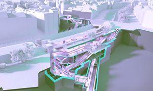 So soll die neue Station bei der Pilgramgasse für die verlängerte U2 aussehen. Die Otto-Wagner-Gebäude bleiben erhalten. / Bild: (c) Wiener Linien / Johannes Zinner (