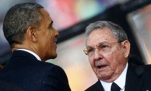 Obama und Raul Castro bei einer Begegnung im Dezember 2013 / Bild: (c) REUTERS (� Kai Pfaffenbach / Reuters)