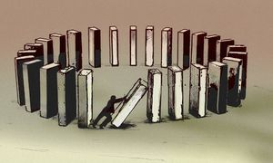 Symbolbild: Dominoeffekt / Bild: (c) imago