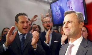 Norbert Hofer bei der FPÖ-Wahlfeier am Sonntag / Bild: (c) Reuters
