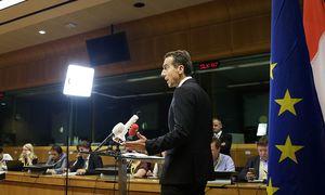 """Bundeskanzler Christian Kern plädiert beim EU-Gipfel in Brüssel für realistische Reformen der Union: """"Das ist nicht der Zeitpunkt für riesige Visionen."""" / Bild: (c) APA/BKA/ANDY WENZEL"""