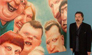 Manfred Deix vor einem seiner Werke / Bild: (c) Imago