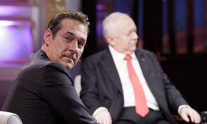 Strache (links) und Häupl bei der TV-Diskussion der Spitzenkandidaten / Bild: APA/GEORG HOCHMUTH